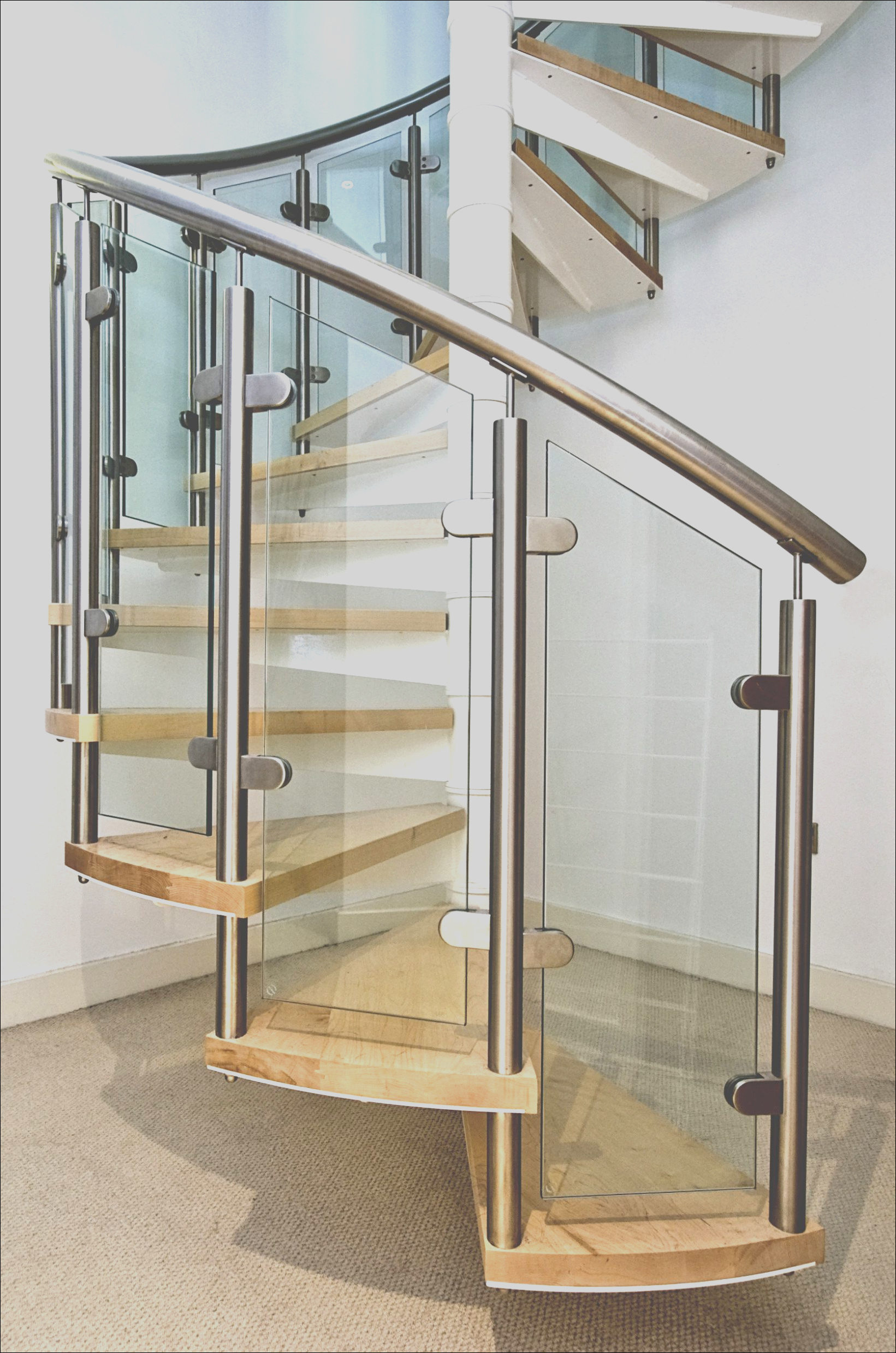 cool spiral glass staircase