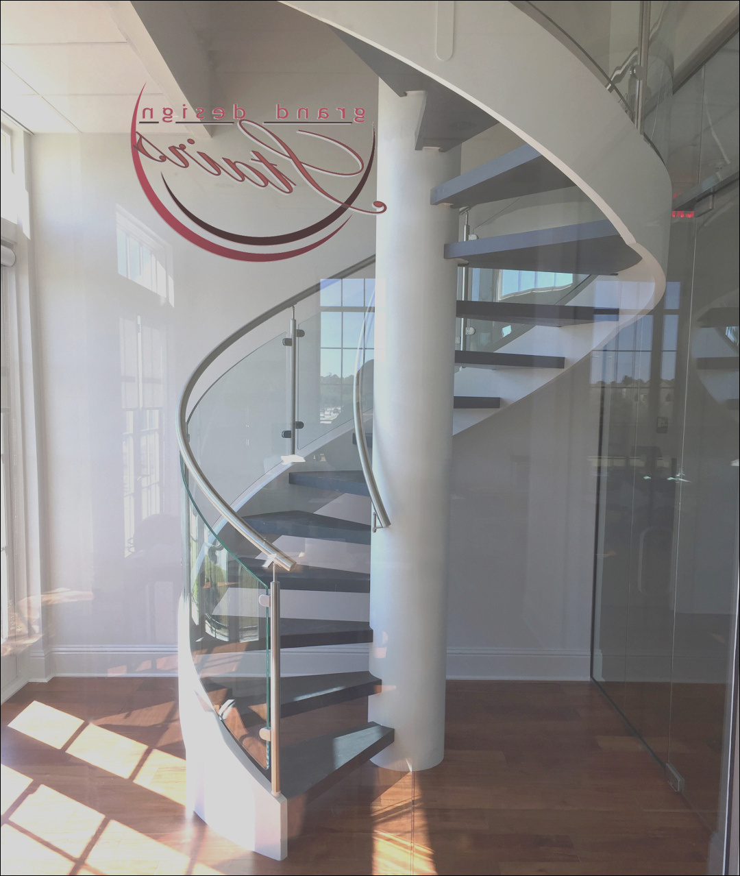 glass spiral staircase in louisiana