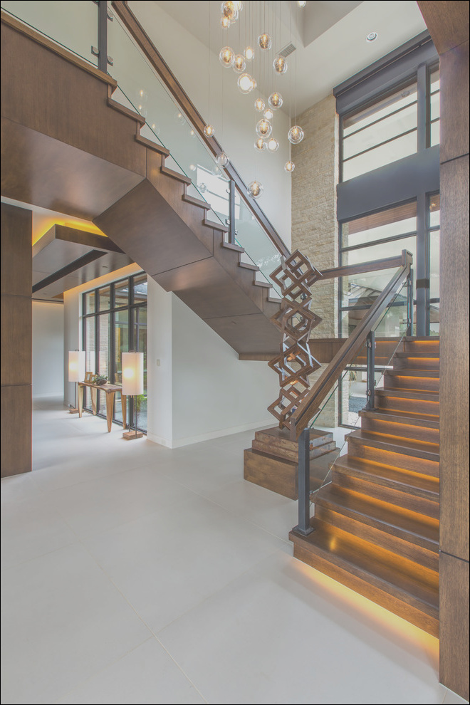 stair hall in contemporary home for entertaining contemporary staircase dallas phvw vp