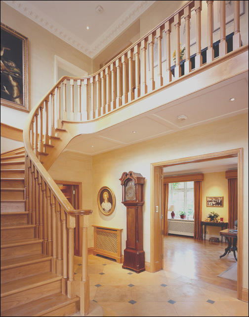 Front Hall Interior Design Wimbledon London traditional staircase london