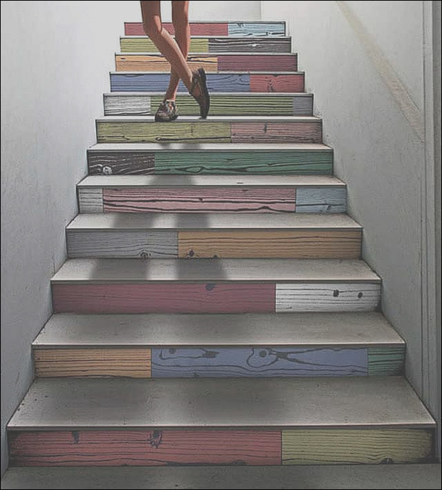 colorful staircase designs