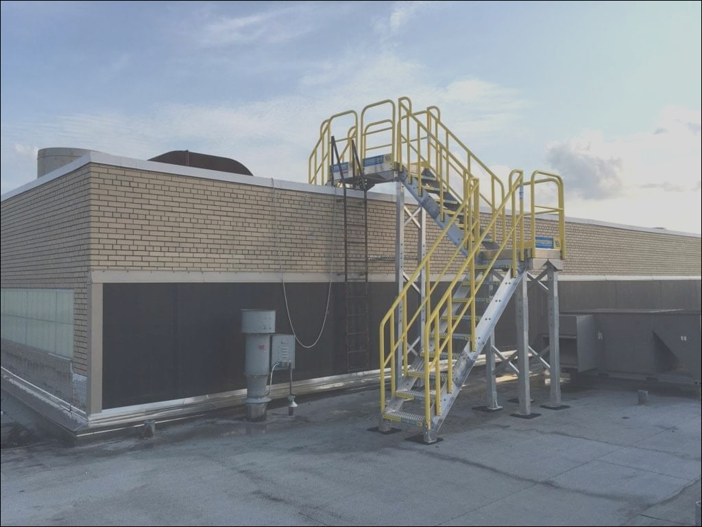 roof access metal stairs campbells soup