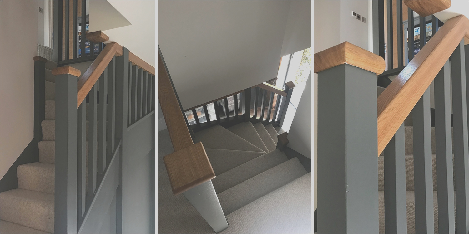 slate grey painted stairs oxfordshire