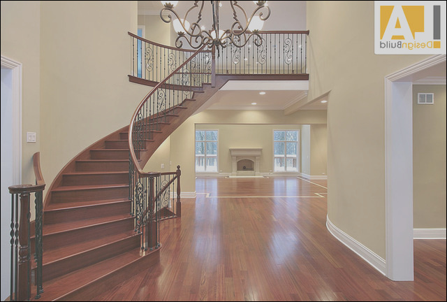 Living Room traditional staircase los angeles