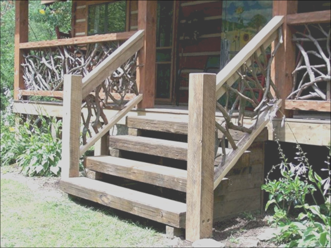 outdoor wooden stairs ideas 15