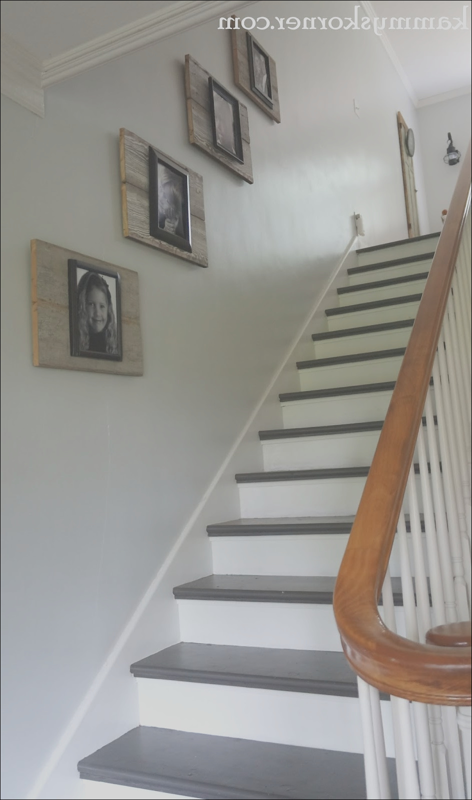 painting stairs with diy chalk paint