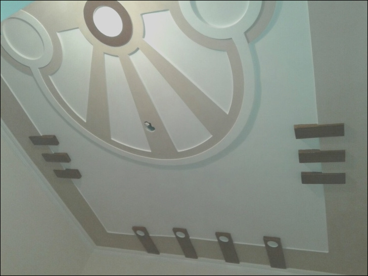 pop design for stairs roof