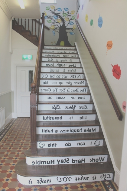 stairs decoration ideas for school