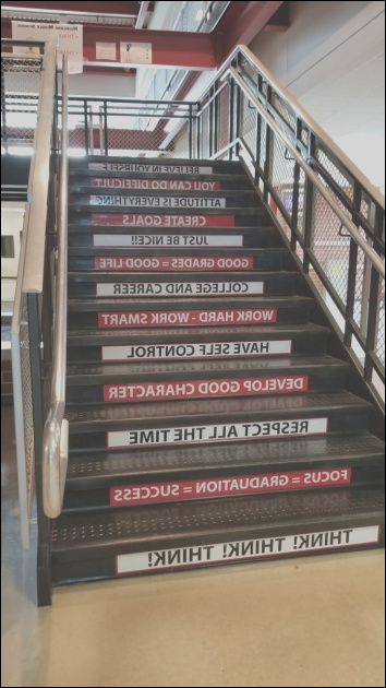 gorgeous stairs decoration ideas for school pic