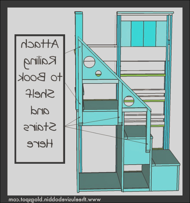 storage stair system for bunk or loft