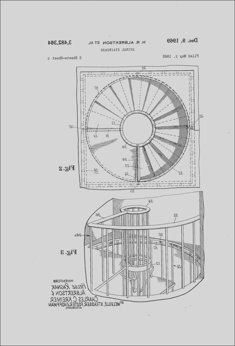 small spiral staircase dimensions