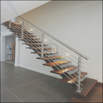 Stainless Steel Stairs Grill Design Wood