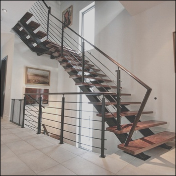 Modern design steel structure staircase with