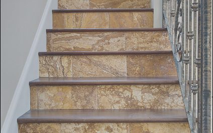 Stairs Tiles Design Awesome Gold Travertine Tiles Traditional Staircase Tampa