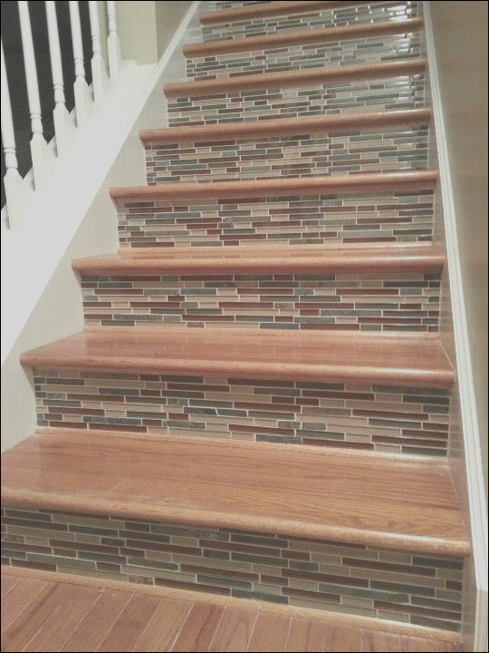 variety of choice tiles for the steps