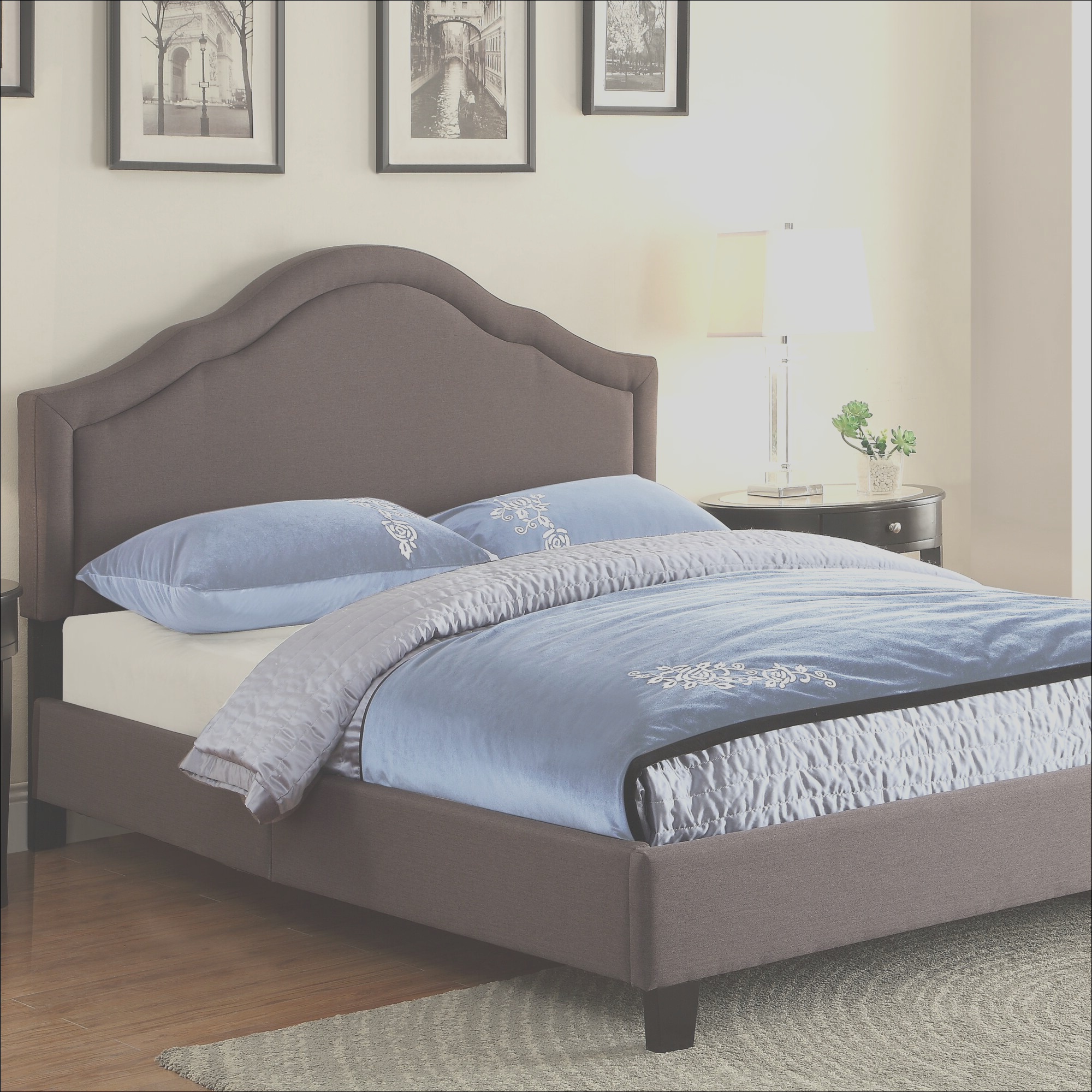PRI Queen Upholstered Panel Bed PRIH1248