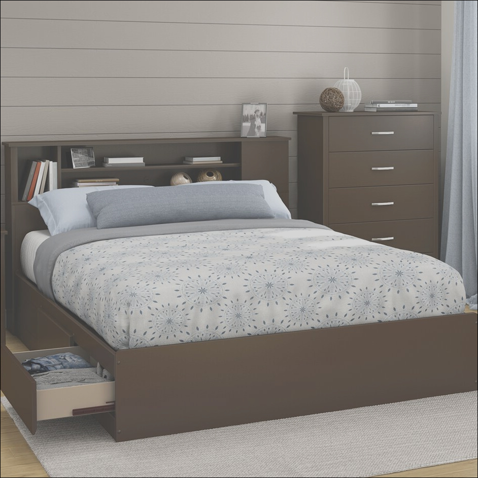 South Shore Fusion 40 25in Tall Queen Platform Bed TH3428