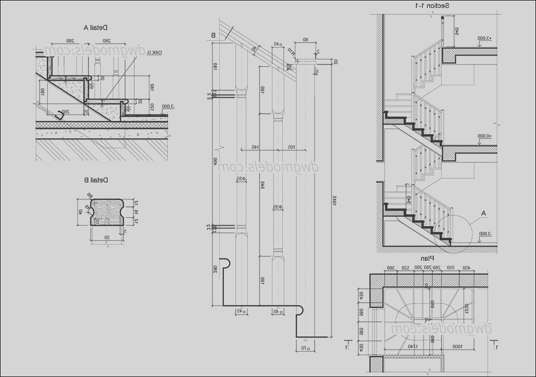 staircase detail drawing