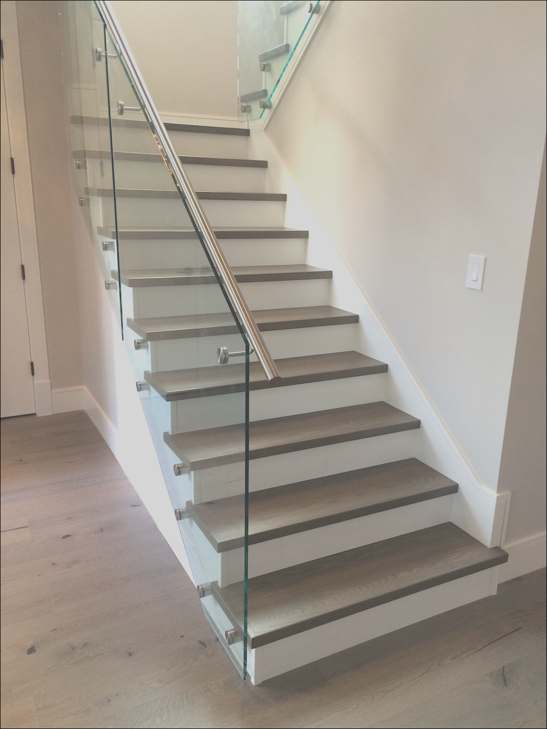 hardwood treads stair with