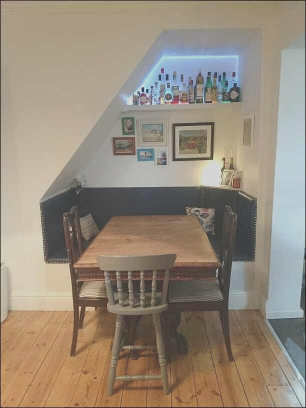 bar under stairs