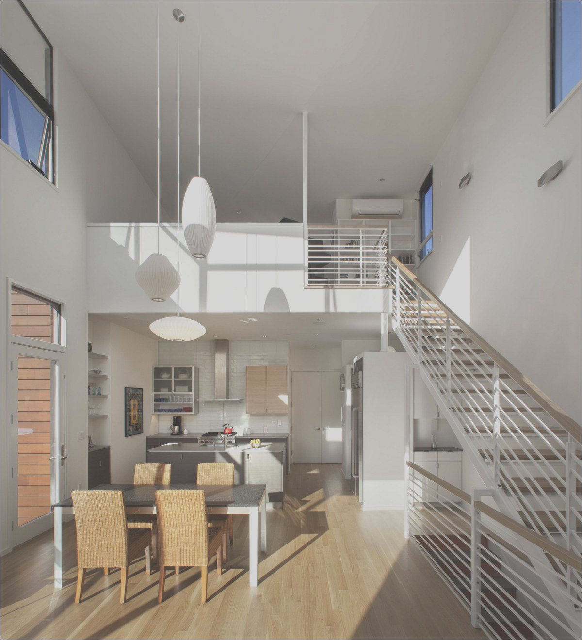 lighting dining table stairs kitchen townhomes boulder colorado