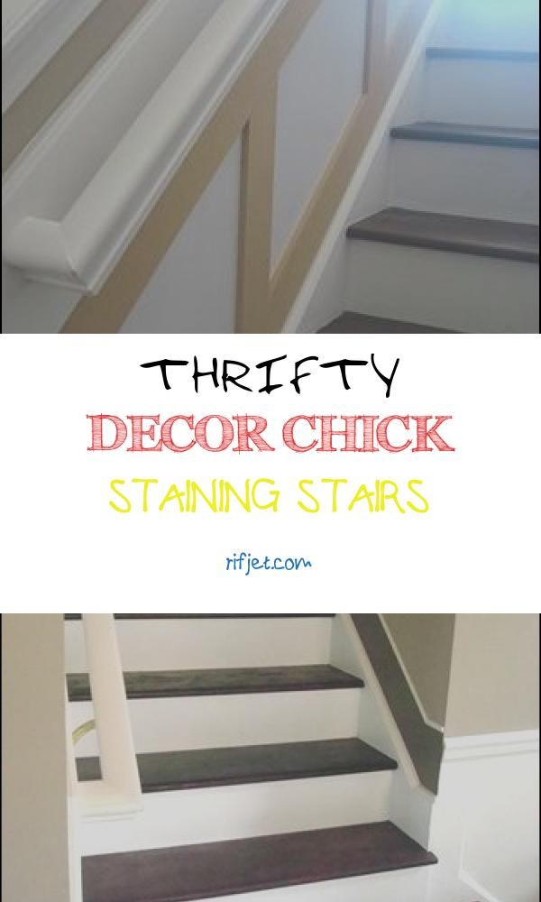 Thrifty Decor Chick Staining Stairs Inspirational Thrifty Decor Chick the Staircase is Done Again