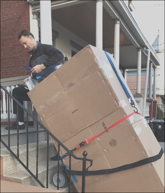 how to carry furniture up stairs by