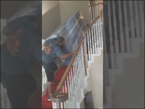 how to move large furniture up stairs