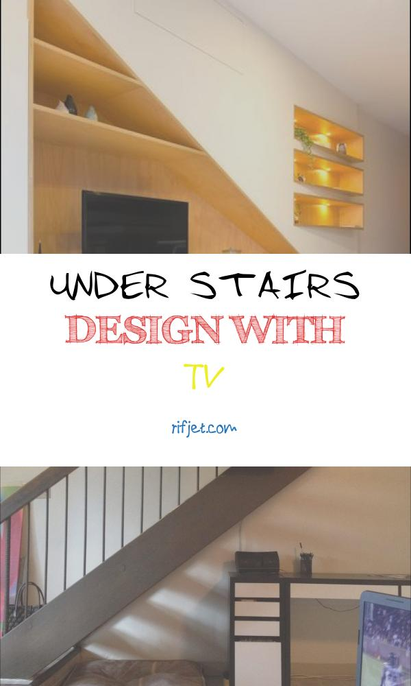 Under Stairs Design with Tv New Tv and Storage Could Work Under Stairs