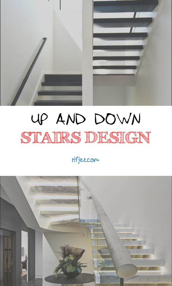 Up and Down Stairs Design Elegant Modern Black Staircase Up and Down