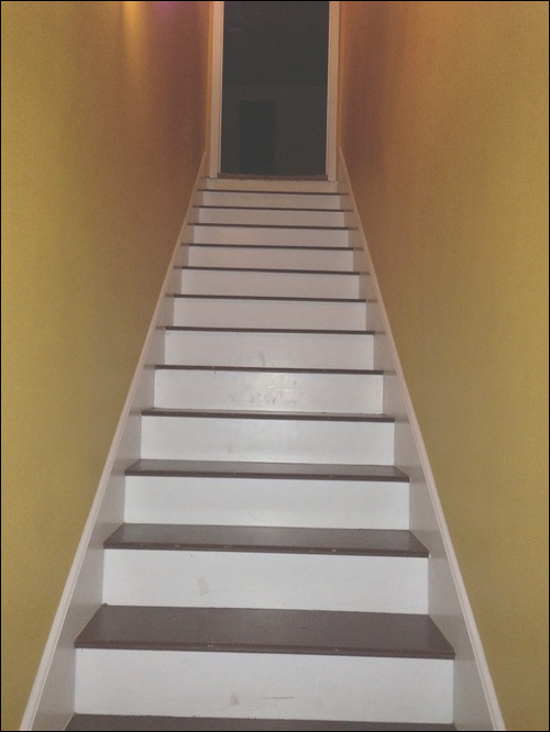 need help stairs are so plain maybe write something going up or down