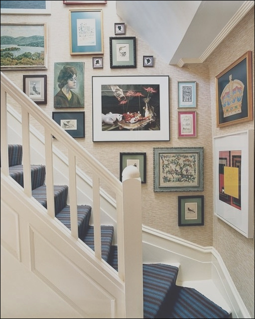 staircase wall decorating ideas eclectic staircase other metro