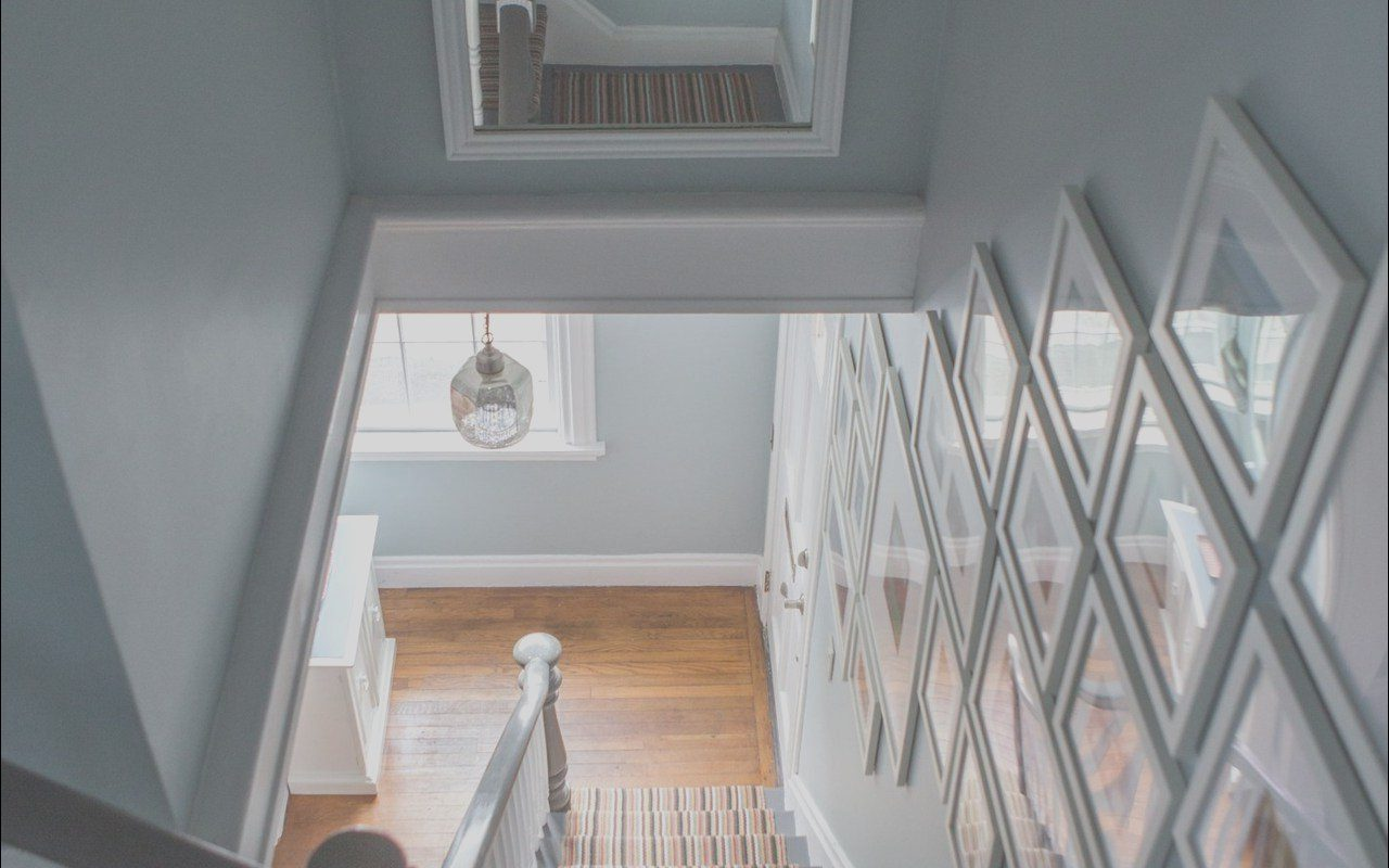 Wall Decor Above Stairs New Joe and Alana's Newport Home Full Of Bold Colors and
