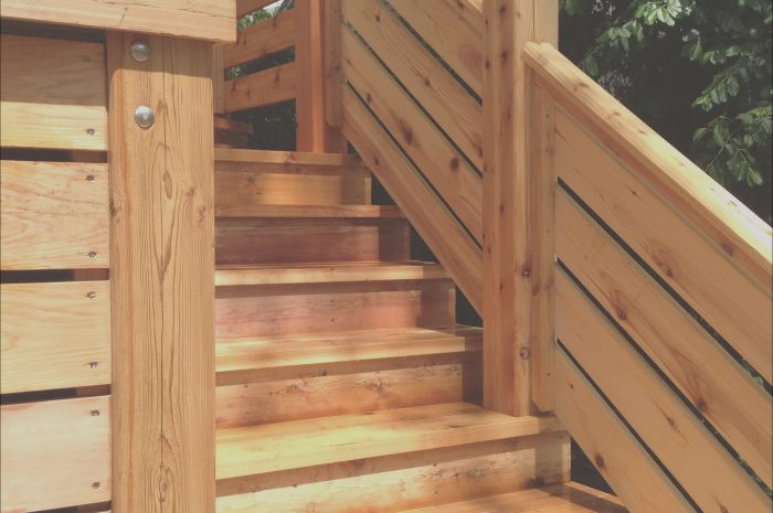 9 Loveable Wood Deck Stairs Ideas Collection
