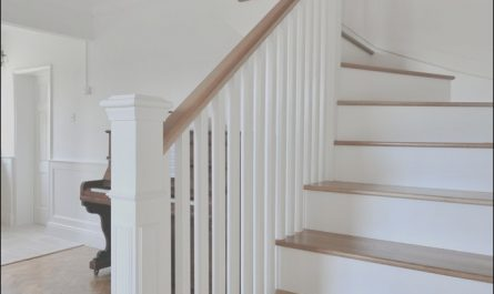 Wooden and White Stairs Awesome Fresh Country Living with that Wow Factor A solid Oak