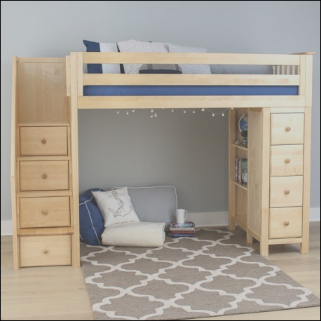 667 oxford natural twin loft bed with stairs storage
