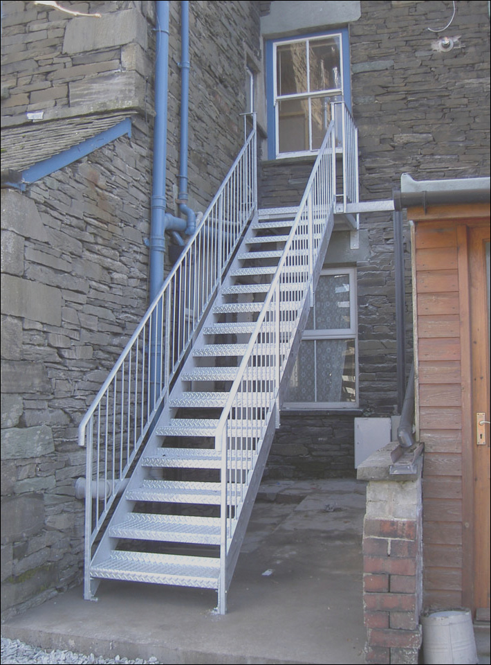 fire escapes feature staircases