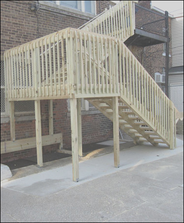 fire escape and rear access stair system on a tight timeline