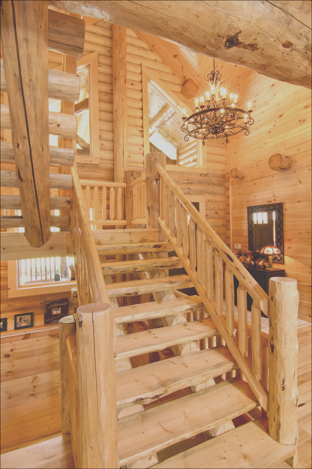 wooden stair system