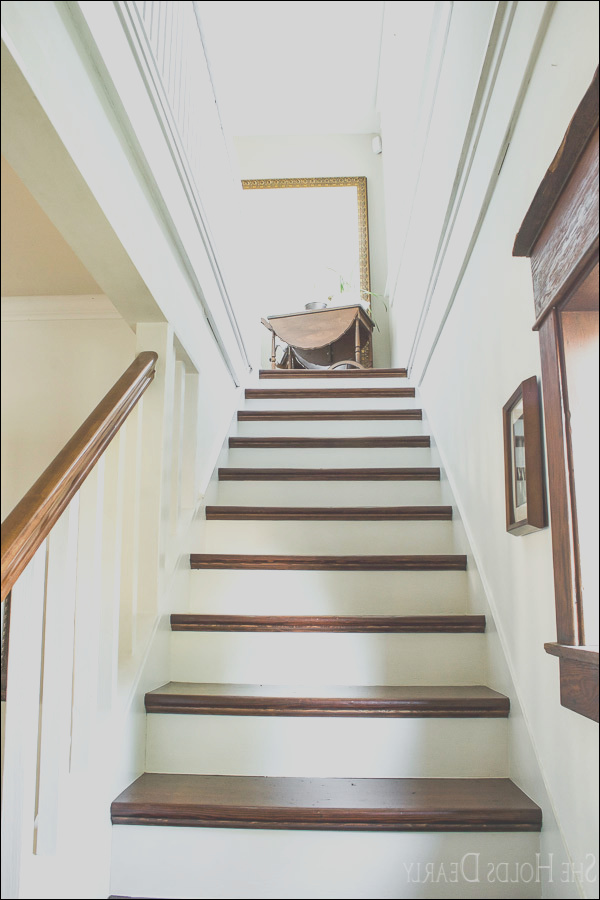 refinish old wood stairs