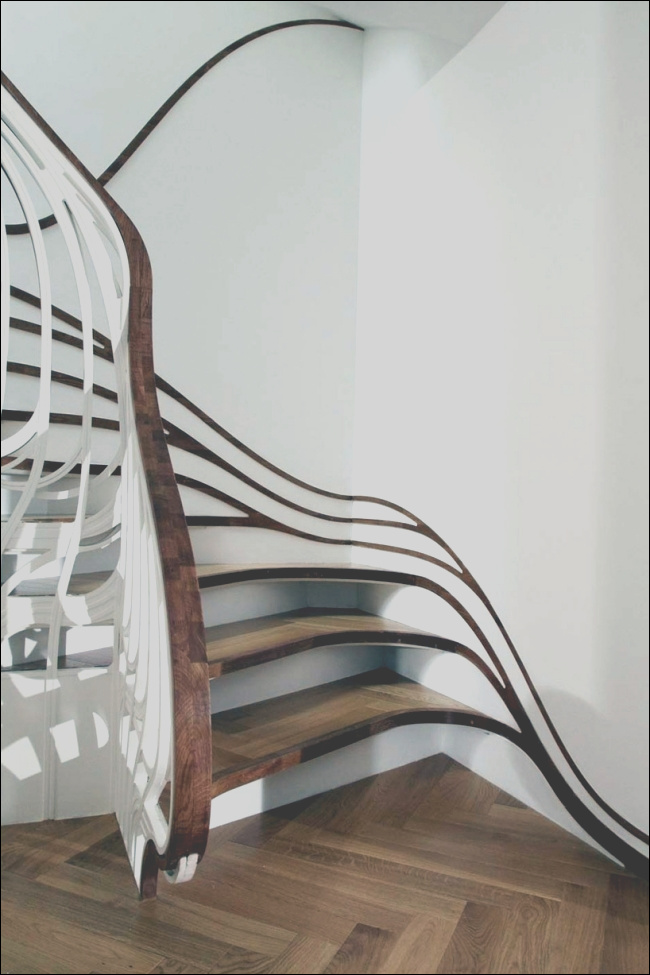 amazing floating wooden staircase designed by atmos studio 1461