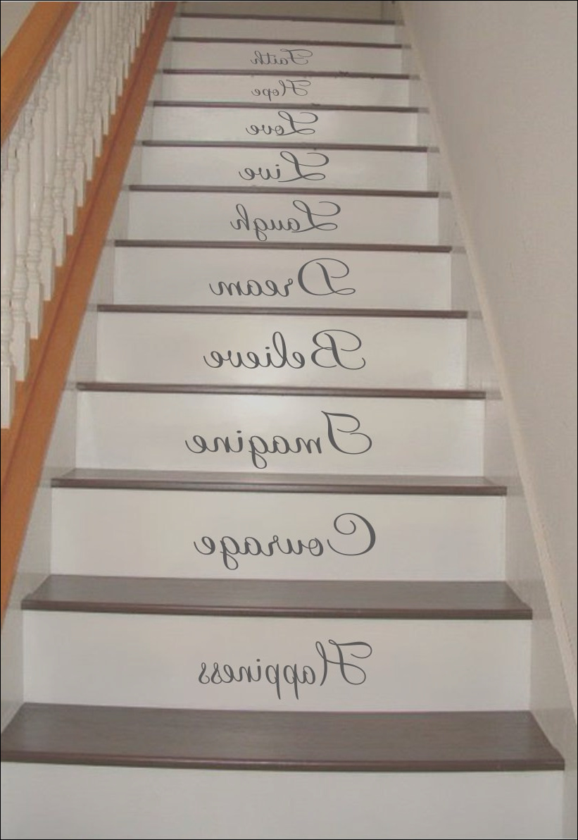inspiration quotes stair riser decals