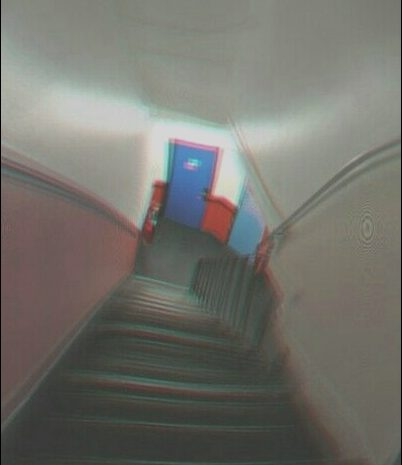 10 Present House Stairs Glitch Photography