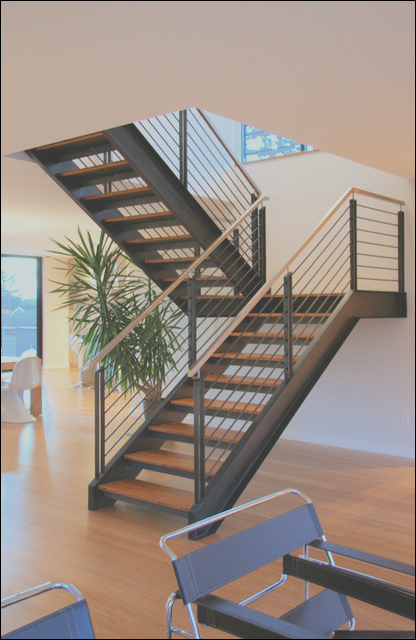 Steel staircase modern staircase seattle