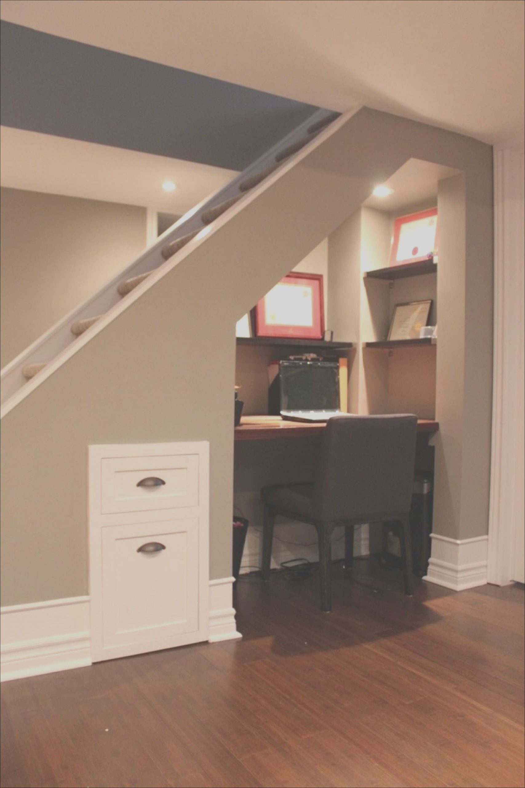basement under stairs space ideas