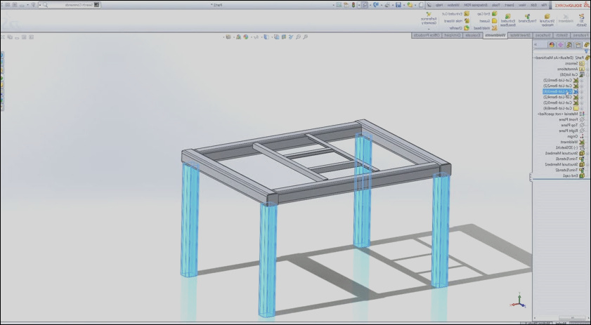 how to create simple table with