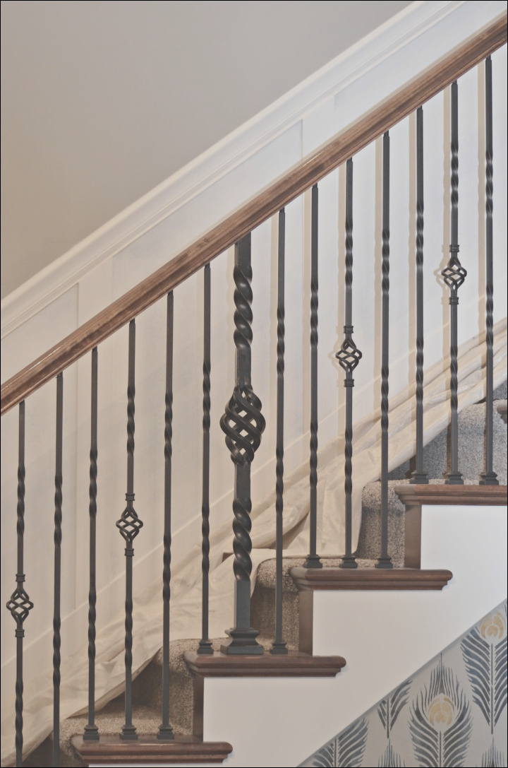 staircase makeover how to install molding