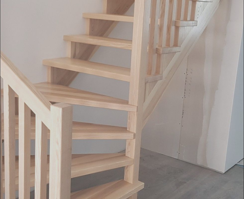 Wooden Stairs Design for Small Spaces New Pact Wooden Staircase for Small Spaces 30 Square Meters